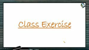 Rotational Motion - Class Exercise (Session 8)