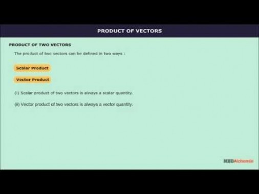 Class 12 Maths - Scalar Product Of Two Vectors Video by MBD Publishers