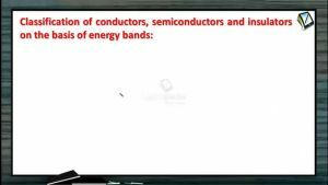 Semiconductors - Classification Of Conductors Semiconductors And Insulators (Session 1)