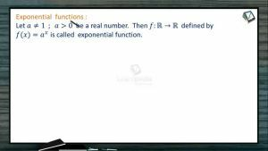 Sets, Relations And Functions - Exponential Function (Session 4)