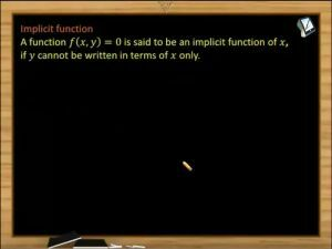 Sets, Relations And Functions - Implicit Function And Example (Session 1)