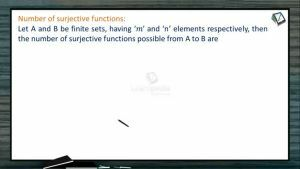 Sets, Relations And Functions - Number Of Surjective Functions With Example (Session 6)