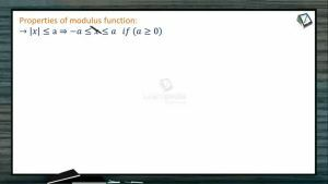 Sets, Relations And Functions - Properties Of Modulus Function With Examples (Session 3)