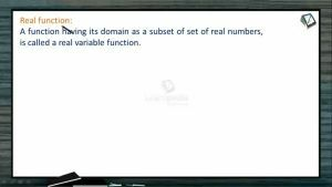 Sets, Relations And Functions - Real Functions (Session 2)