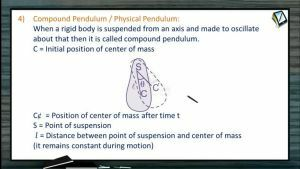 Simple Harmonic Motion - Physical Pendulum And Torsional Pendulum (Session 4, 5 & 6)