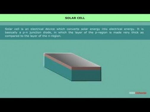 Class 12 Physics - Solar Cell Video by MBD Publishers