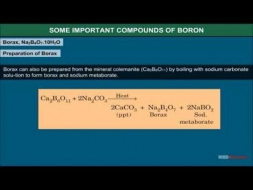 Class 11 Chemistry - Some Important Compounds Of Boron Video by MBD Publishers