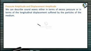 Sound Waves - Pressure Amplitude And Displacement Amplitude (Session 2)