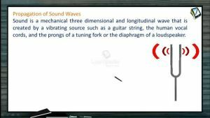 Sound Waves - Propagation Of Sound Waves (Session 1)