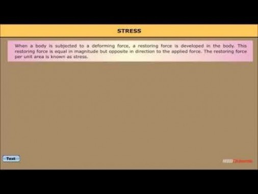 Class 11 Physics - Stress And Strain Video by MBD Publishers