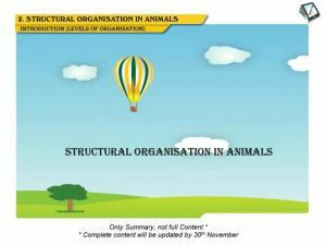 Structural Organisation in Animals - Levels Of Organisation (Session 1)