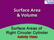 Class 9 & 10 Mathematics - Surface Areas Of Right Circular Cylinder - Activity Video by Lets Tute
