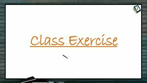 Surface Chemistry - Class Exercise (Session 2)