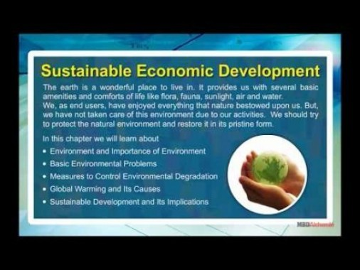 Class 11 Economics - Sustainable Economic Development Video by MBD Publishers