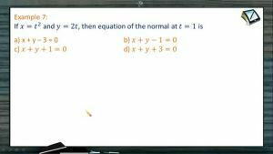 Tangents And Normals - Problems 2 (Session 1)