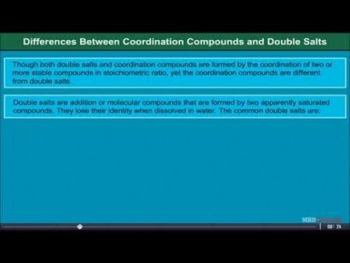 Class 12 Chemistry - Theory Of Coordination Compounds Video by MBD Publishers