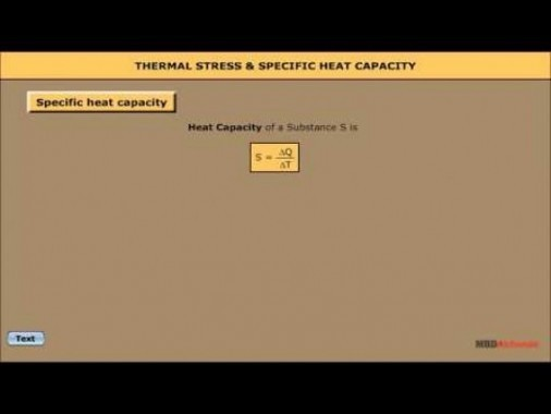 Class 11 Physics - Thermal Stress And Specific Heat Capacity Video by MBD Publishers