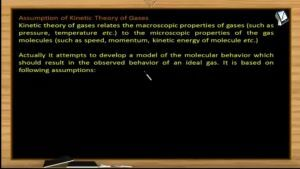 Thermodynamics - Assumption Of  Kinetic Theory Of Gases (Session 9)