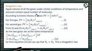 Thermodynamics - Avogadro Law (Session 11)