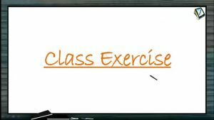 Thermodynamics - Class Exercise (Session 12)