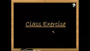 Thermodynamics - Class Exercise (Session 5)