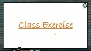 Thermodynamics - Class Exercise (Session 8)