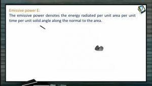 Thermodynamics - Emissive Power (Session 20 & 21)