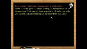 Thermodynamics - Error In Scale Reading Due To Expansion Or Contraction (Session 2 & 3)