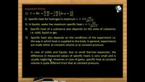 Thermodynamics - Important Points 1 (Session 13 & 14)