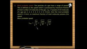 Thermodynamics - Most Probable Speed (Session 10)