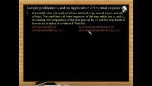 Thermodynamics - Problems On Application Of Thermal Expansion (Session 2 & 3)