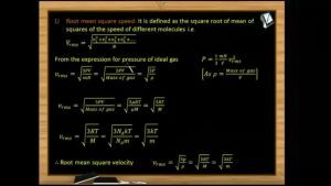 Thermodynamics - Root Mean Square Speed (Session 10)