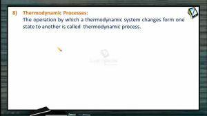 Thermodynamics - Terminology Part III (Session 1)