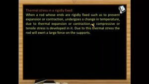 Thermodynamics - Thermal Stress In A Rigidly Fixed (Session 2 & 3)