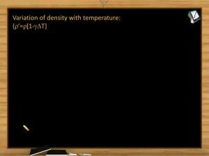 Thermodynamics - Variation Of Density With Temperature (Session 1)