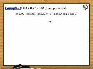 Trigonometric Ratios And Transformations - Examples (Session 11)