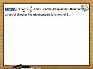 Trigonometric Ratios And Transformations - Examples (Session 2)