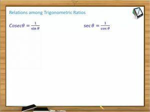 Trigonometric Ratios And Transformations - Relations Among Trigonometric Ratios (Session 2)