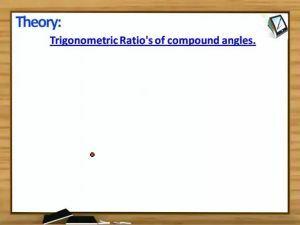 Trigonometric Ratios And Transformations - Theroem 4 (Session 7)