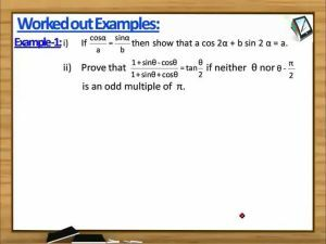 Trigonometric Ratios And Transformations - Worked Out Examples 1 (Session 8)