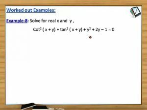 Trigonometry - Examples 3 (Session 4)
