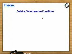 Trigonometry - Solving Simultaneous Equations (Session 3)