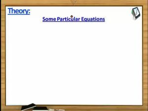 Trigonometry - Some Particular Type Of Equations II (Session 3)