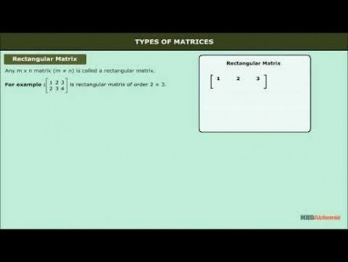Class 12 Maths - Types Of Matrices Video by MBD Publishers