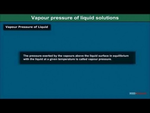 Class 12 Chemistry - Vapour Pressure And Raoults Law Video by MBD Publishers