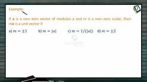 Vectors - Examples 1 (Session 1)