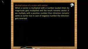 Vectors - Multiplication Of A Scalar With Vector (Session 3 & 4)