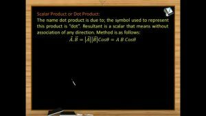 Vectors - Scalar Product Or Dot Product And Angle Between Two Vectors (Session 5 & 6)