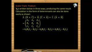 Vectors - Scalar Triple Product (Session 5 & 6)