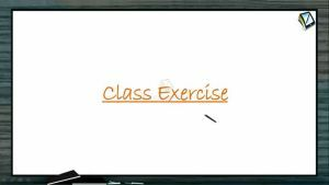 Wave Motion - Class Exercise (Session 7)
